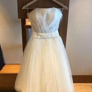 ミモレ丈ウェディングドレス