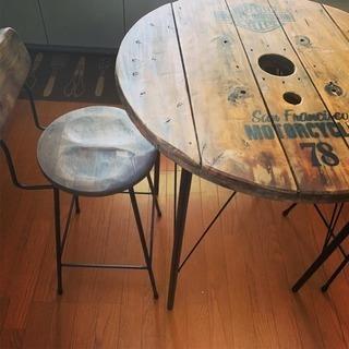 アイアンテーブル椅子3点セット