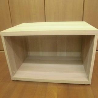 イケア IKEA 収納ボックス カラーボックス 木目調ライトブラウ...