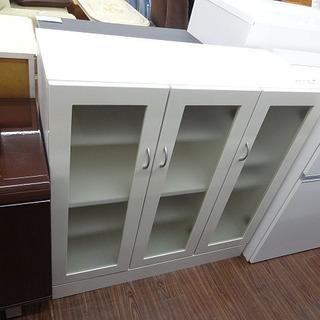 札幌 引き取り 食器棚/カップボード 白 ロータイプ キッチン収納