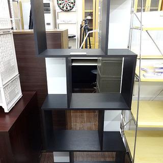 札幌 引き取り ブックシェルフ/棚/フリーラック 木製 黒 ディス...