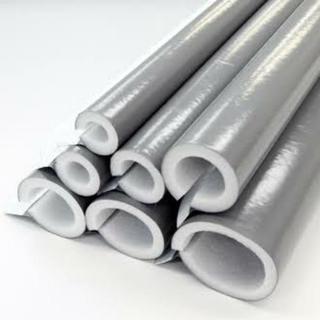 水道配管、凍結防止、保温材巻きます