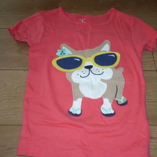 カーターズ ピンク Tシャツ サイズ8 ブルドックのアップリケつき