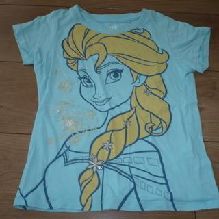 アナ雪 Tシャツ 水色 サイズ120
