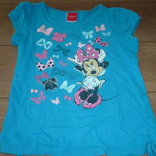 ミニーマウス Tシャツ サイズ6 水色 中古