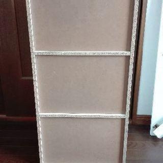 三段カラーボックス(白)