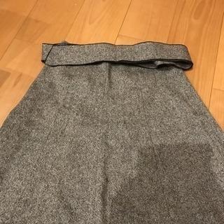スカート ベルト付き 日本製
