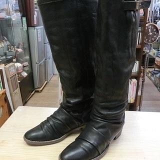 卑弥呼 ロングブーツ 黒 24.0cm 中古品