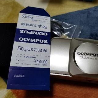 新品★オリンパススタイラスズーム160フィルムカメラです。取説、...