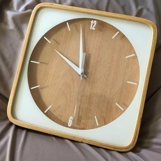 【お取引中】木製 シンプル掛け時計