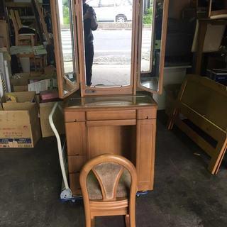 🉐定価17万円 大塚家具 三面鏡ドレッサー 椅子付き