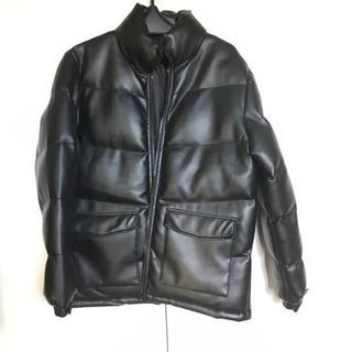 合成皮革 ジャケット黒