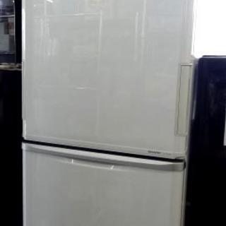 【恵庭発】シャープ プラズマクラスター搭載3ドア冷蔵庫 11年