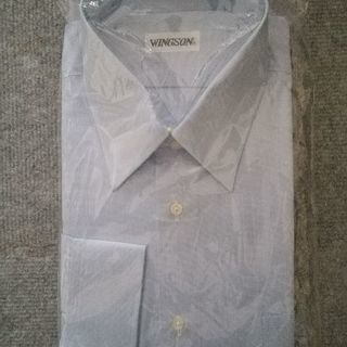 ワイシャツライトブルー長袖(未使用)