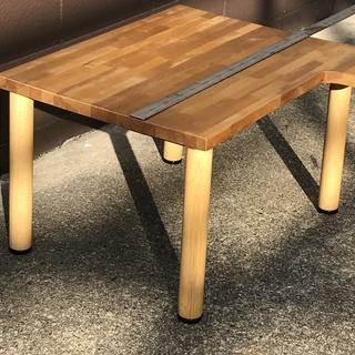 ホームメード 集積材 パソコンテーブル 低床タイプ