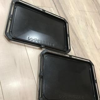 オーブンレンジの鉄板 2枚あります