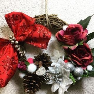 クリスマス・お正月の花飾りづくり(三井町公民館)