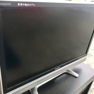 テレビ(37V)とテレビ台(スピーカー搭載)セット 美品!