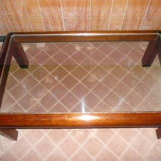 カリモク製 ガラステーブル2種セット