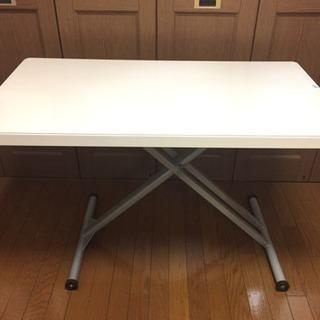 昇降テーブル ホワイト PS抗菌マット付