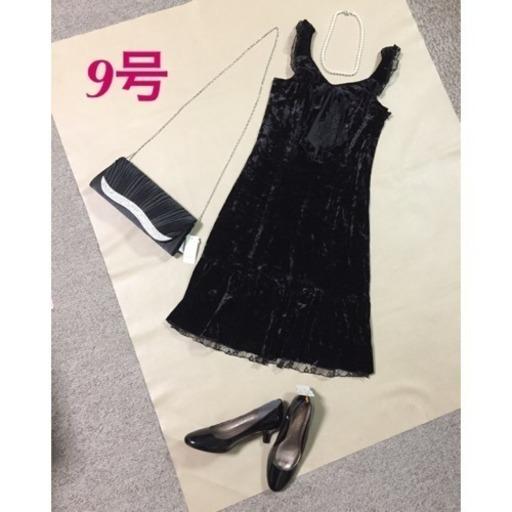 b1da99d8f6271 9号 新品 ベルベットドレス パーティードレス ブラック (J.saho2 ) 新 ...
