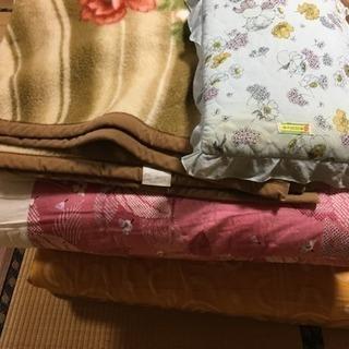 布団上下セット おまけに毛布と枕