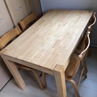 イケア  IKEA  ダイニング テーブル  椅子  イス  4脚