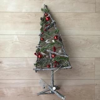 ★素敵なクリスマスツリー★ 新品 飾り付け済み ライト付き 白樺...