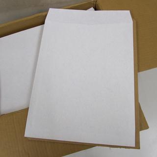 封筒 角型3号 100g/㎡ ホワイト×ブルー系 490枚以上 ...