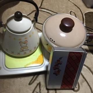 片手鍋、やかん、卓上電熱機、レトロお弁当箱