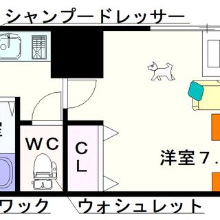 【ラ・ドゥセール難波東】4号タイプ!1Kタイプ!小型犬OK…