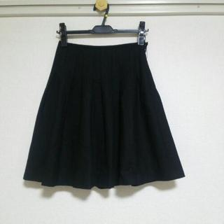 黒膝丈スカート 美品