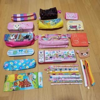 美品‼️お子様用 ペンケース9点 鉛筆等 ※財布は含みません