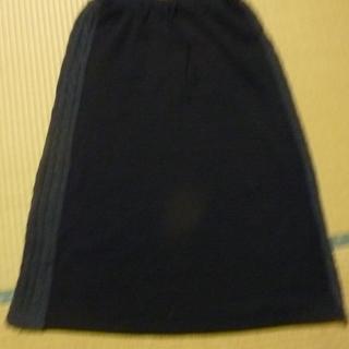 黒 裏起毛 ロングスカート