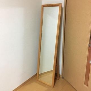 無印 パイン材 姿見鏡