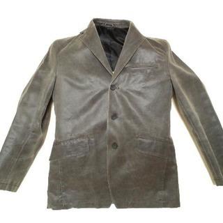 グレー合皮ジャケット