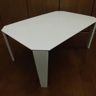 ニトリ 折りたたみ式ローテーブル VD7550-WH ◎ホワイト系...