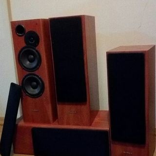 木製スピーカーセット ¥3,000 -Wooden speakers