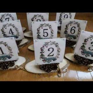 テーブルナンバー 結婚式 グッズ 飾り