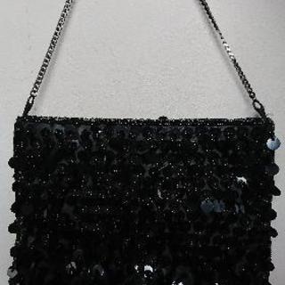 ブラック スパンコール バッグ