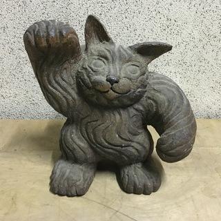 石像 招き猫 置物 縁起物 高さ32cm