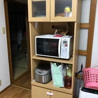 食器棚 炊飯器 オーブンレンジ