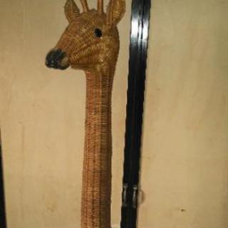 高級籐編み製キリンさんインテリア