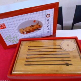 未使用!竹茶盤/中国茶道具/湯こぼし