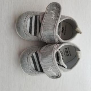 ベビー 靴 13cm グレー