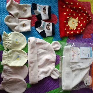 新生児帽子&ミトン&靴下