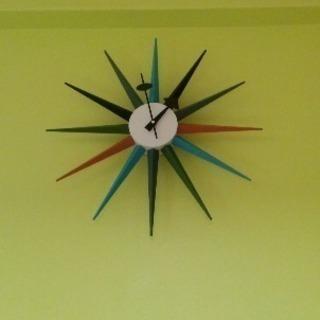 サンバーストクロック お洒落掛け時計
