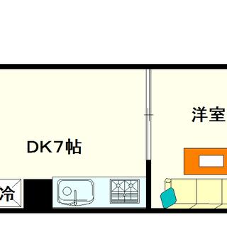 【桜川コーポ】4号タイプ!1DKタイプ!保証会社不要ですよ☆
