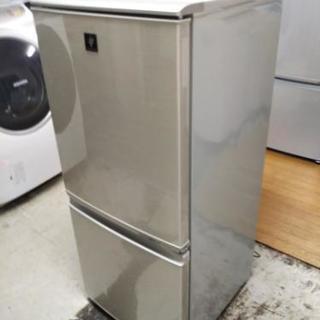 【リサイクルサービス八光安心の1か月保証 田上店 配達設置Ok】シャープノンフロン冷凍冷蔵庫136L 2ドア転居時も安心付け替えどっちもドア採用プラズマクラスター搭載にて清潔保存SJ-PD14T-N  - 鹿児島市