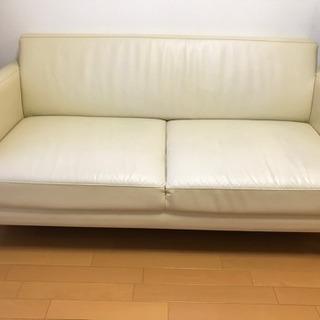 ゆったり合皮ソファ - 家具